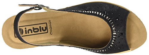 Inblu CE000043, Sandalias de Cuña Mujer Negro