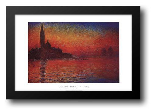 San Giorgio Maggiore at Twilight or Dusk in Venice, c.1908 Framed Art Print by