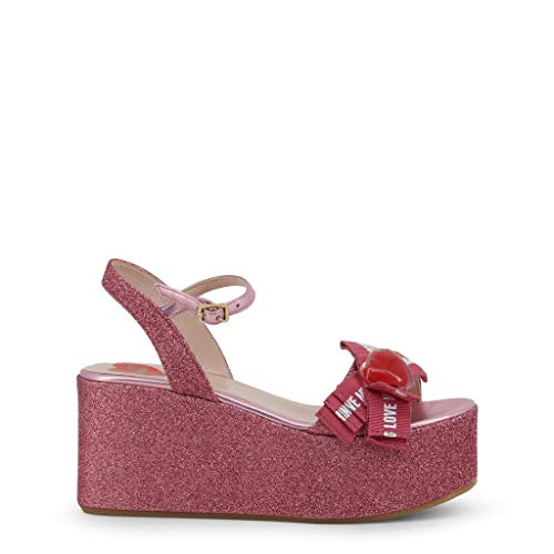 Love Moschino Women Pink Wedges