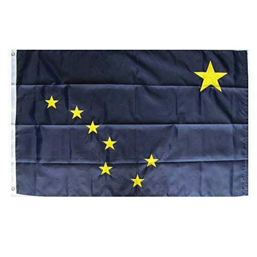 WOWMAR 3x5 Foot Alaska Flag Made in USA - Vivid Color and UV