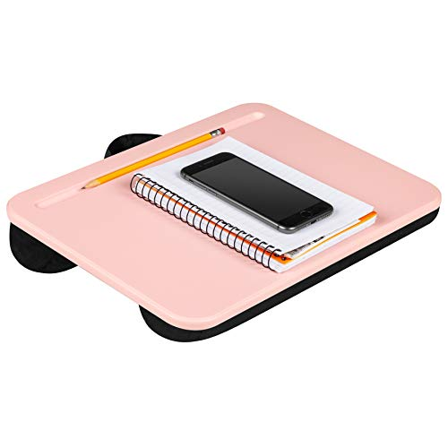 LapGear Compact Lap Desk - Rose Quartz - Fits Up to 13.3 Inch Laptops - Style No. 43104