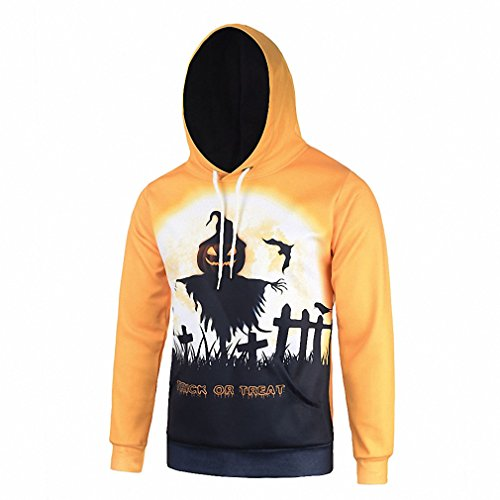 Fall Crochi Novelty Men Hoodies and Sweatshirts With Halloween Themes Pumpkin Skulls Printed Yellow Hip hop Hoodie Hoody L6109 L