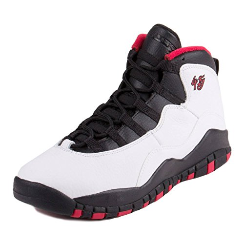 AIR Jordan 10 Retro Big Kids Style, White/Black/True Red, 7 (Nike Air Jordan 7 Vii Retro 2015)