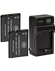 BM Premium ENEL19 Battery & Charger Kit for Nikon Coolpix S32, S100, S3100, S3200, S3300, S3500, S3600, S4100, S4200, S4300, S5200, S5300, S6400, 2 Pack