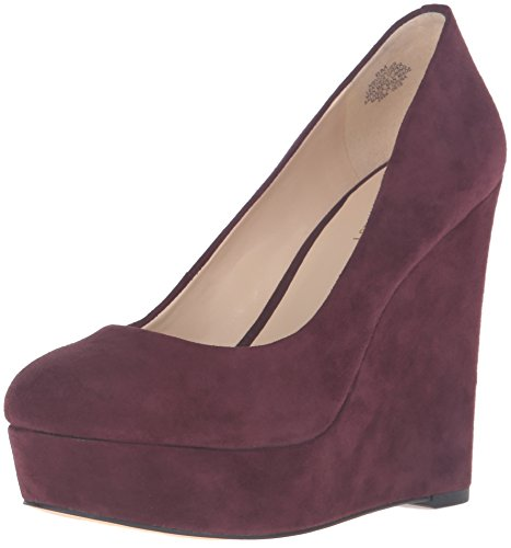 Nine West Women's Voucher Suede Wedge Pump Wine uOFugy