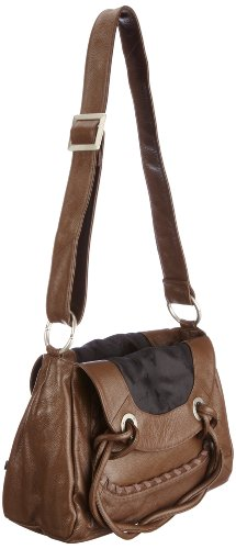Poodlebags Celebrity - authentic - Lily - black 320711BB - Bolso de asas de cuero para mujer Marrón