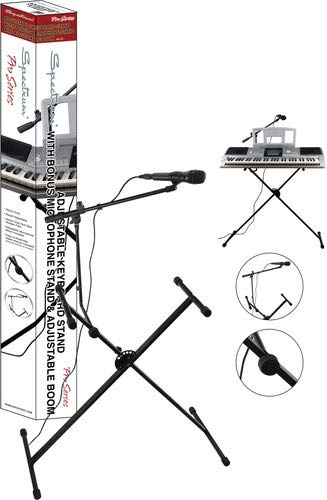 Spectrum AIL KS Adjustable Keyboard Stand with Microphone Boom Arm