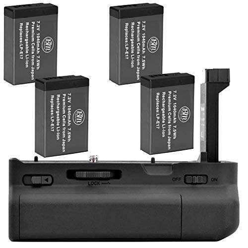 Battery Grip Bg-c18 + 4 Baterias Lp-e17
