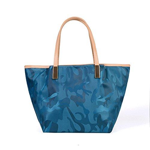 Camouflage Dame Décontracté À Bleu Unique Jacquard Imperméable Sac Sac Blue Bandoulière Casual GWQGZ qTFw1q