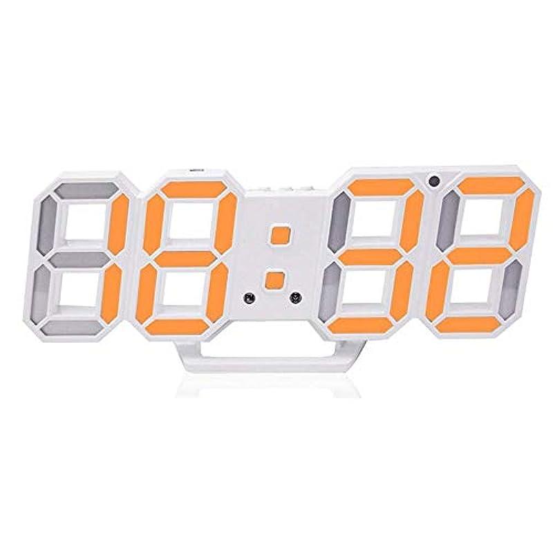 Haolong LED 벽걸이 디지탈 시계 - 3D 입체 wall wall clock 리모콘 부착 USB전원 어댑터 부착 알람 기능 첨부 와 탁상시계 벽 시계