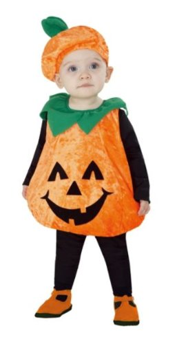 Totally Ghoul Pumpkin Vest Baby / Toddler Halloween Costume (1-2 Years) for $<!--$5.68-->