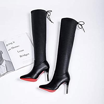 Mujer altas botas negras para