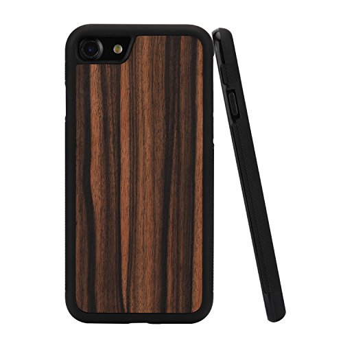 iPhone7 Wood Case/iPhone8 Wood Case,Unique Natural Genuine Hard iphone 7 iPhone8 Phone Shell,Ultra Slim Wooden Protective Cell Phone Cover Cases With Real Wood and TPU Material for Apple iphone7&8(Ebo