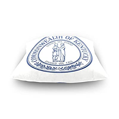 Square Decorative Throw Pillow Case Cushion Cover,USA American State Emblem Seal of Kentucky,Supersoft Pillowcase
