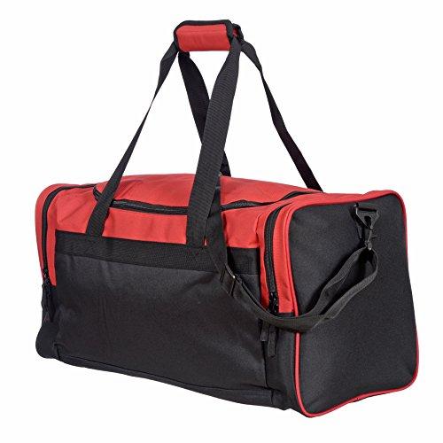 Jetstream 24 Inch Multi Purpose Sports Duffle Gym Bag (Red) 24' Gear Duffel Bag