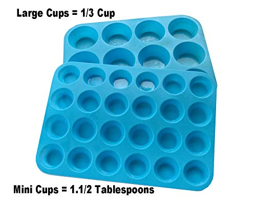 BRRR Enterprises Muffin & Cupcake Pan Baking Molds | Thick Silicone Cups for Baked Products | Cake, Cookie, Brownies & Bread Pans | Reusable Cooking Supplies & Kitc]()