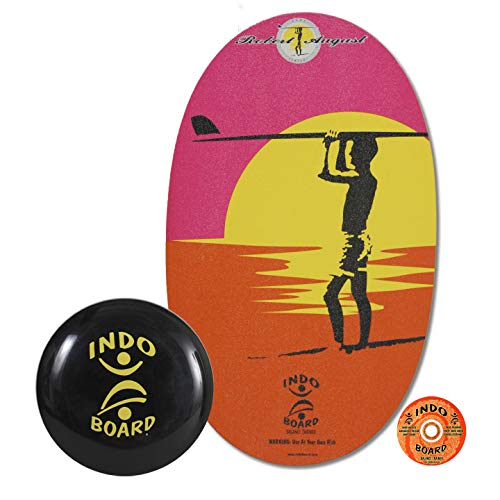 INDO BOARD Original Balance Board for Improving Balance and Core Strength or for Use at Standing Desk - Comes with 14