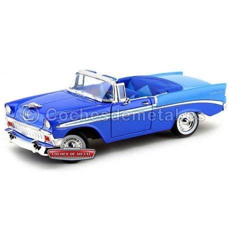 Road Signature 92128bl 1956 Chevrolet Bel Air Convertible Blue 1-18 Diecast Car Model