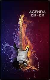 Agenda 2021 - 2022: Agenda Escolar dia por pagina Guitarra Para estudiantes Primaria Colegio Secundaria   Diaria y semanalmente Septiembre de 2021 a ... para alumno estudiante niñas y niños