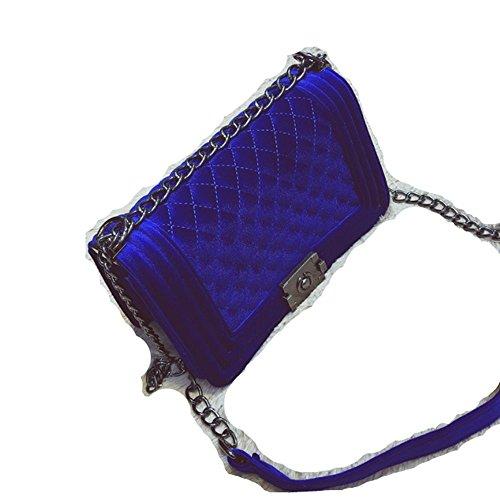 Shoulder Red Clutches Blue wine Bag Velvet Women's Messenger Sapphire zWqdPwpz