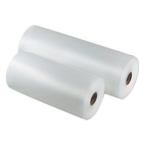 Vacuum Sealer Rolls Two (2), Large 11 x 50' & 8 x 50' Combo