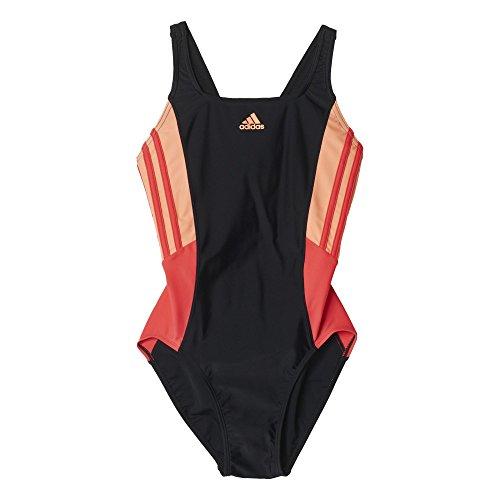 adidas I Ins 1Pc - Bañador para mujer Negro / Rojo (Negro/Rojimp/Senade)