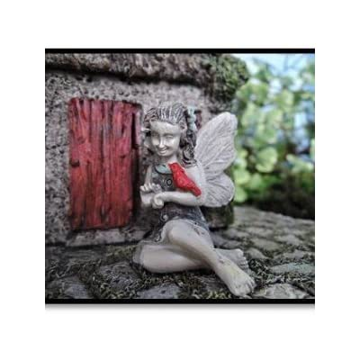 Gardens April Fairy With Cardinal Miniature Fairy Gardening : Garden & Outdoor