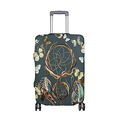 Luggage Protective Covers with Watercolor Dreamcatcher Washable Travel Luggage Cover 18-32 Inch