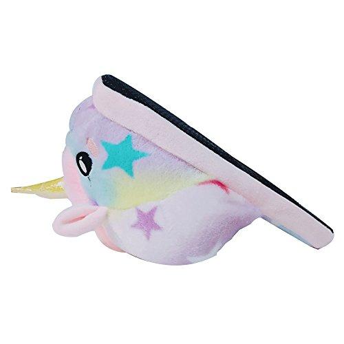 Colorfulworld Unicorn Einhorn Weicher Plüsch Hausschuhe Star