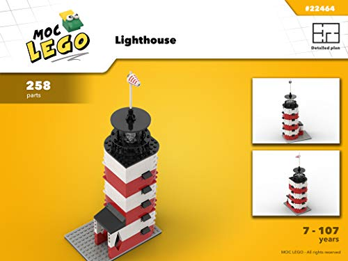 Lighthouse (Instruction Only): MOC LEGO por Bryan Paquette