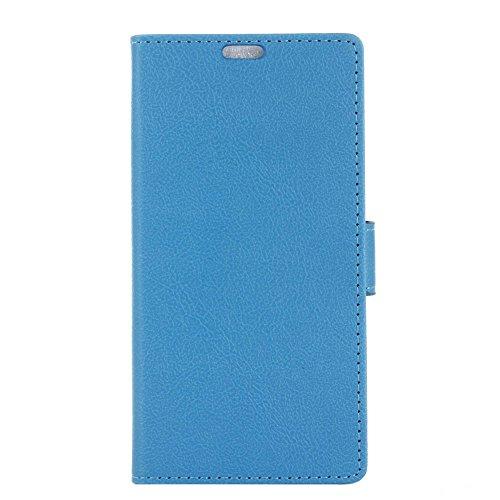TOTOOSE BlackBerry DTEK60 Case, [Portable Wallet ] [ Slim Fit ] Heavy Duty Protective Replacement Flip Cover Wallet Case for BlackBerry DTEK60 - Blue