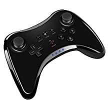 Wireless Wii U Pro Controller SL09 Dual Analog Wireless Controller Joystick Bluetooth Gamepad With USB Charging Cable for Nintendo Wii U Pro(Black)
