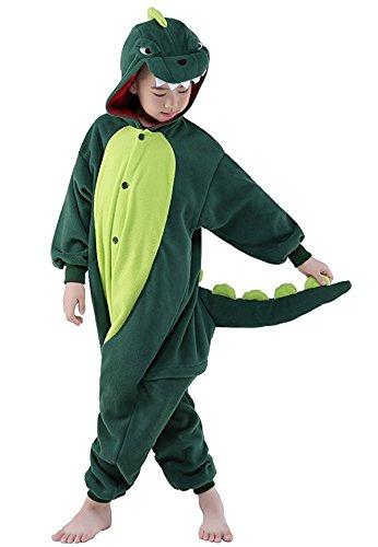 Homewear Childrens Dinosaur Pajamas Sleeping Wear Animal Onesies Cosplay Costume(125#(height 55-59 inch), Green dinosaur) (Nemo Costume Canada)
