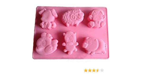 Allforhome 6 Lily Pumpkin Silicone Cake Baking Mold Cake Pan Muffin Cups Handmade Soap Moulds Biscuit Chocolate Ice Cube Tray DIY Mold Doughnut