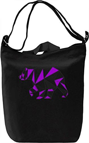 Origami Bear Borsa Giornaliera Canvas Canvas Day Bag| 100% Premium Cotton Canvas| DTG Printing|