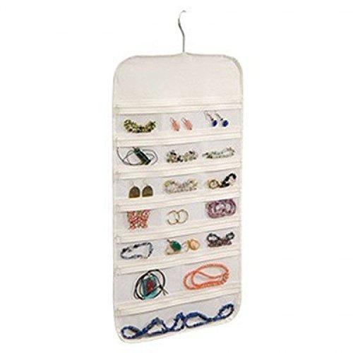 Richards Homewares Jewelry Org/Clear Vinyl Hanger 37 Pocket Hanging Organizer Bedroom Closet New