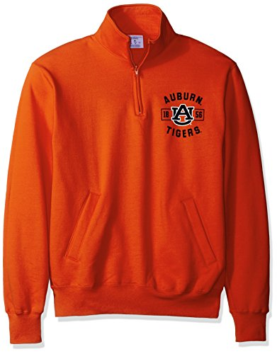 Champion NCAA Auburn Tigers Men's Power Blend Fleece Quarter-Zip Jacket, X-Large, Orange by Champion