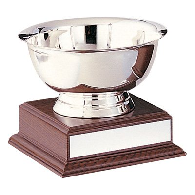 6 Inch Stainless Steel Paul Revere Bowl Trophy, Includes (Bowl Trophy)