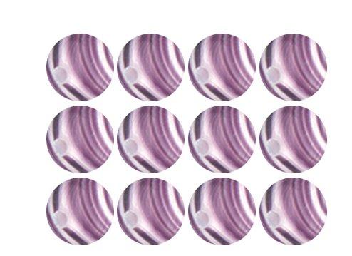 Amethyst Purple White Opaque Swirl Czech Glass Round Beads 4mm ()