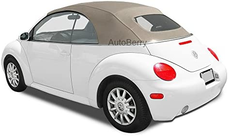 amazon com autoberry compatible replacement convertible top heated glass window for vw for volkswagen beetle power tops 2003 2009 tan stayfast cloth automotive autoberry compatible replacement convertible top heated glass window for vw for volkswagen beetle power tops 2003 2009 tan stayfast cloth