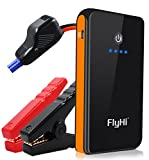 #10: FlyHi 300A Peak 8000mAh Portable Car Jump Starter (for Gas Engine up to 2.5L) Auto Battery Booster Charger Phone Power Bank with Built-in LED Flashlight (Black/Orange)