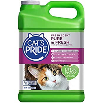 Cat's Pride Fresh & Light Ultimate Care Scented Multi-Cat Litter, 10 Pound, Single Pack