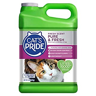 Cat's Pride Fresh Scent Pure & Fresh Multi-Cat Clumping Litter, 10-Pound Jug (C47510)