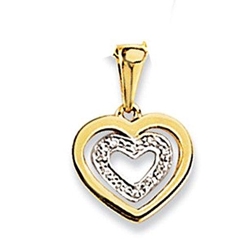 SF Bijoux - Pendentif or jaune 750/1000e et diamant (0,042 carat)
