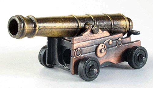 Antique Naval Deck Cannon Die Cast Metal Collectible Pencil Sharpener