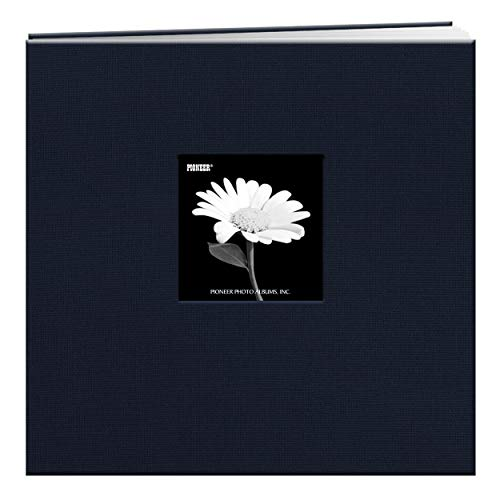 Pioneer 12-Inch by 12-Inch Book Cloth Cover Postbound Album with Window, Regal Navy