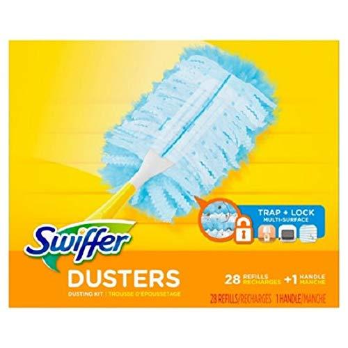 (Swiffer Dusters Dusting Kit, Starter Kit 1 Handle & 24 Duster Swiffer Refills)