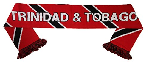 World Cup Soccer Trinidad and Tobago International Soccer Team Scarves, One Size, Red (Football Team Scarf)