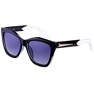 Dollger Retro Wayfarer Sunglasses Men Women Black Plastic Frame Eyewear