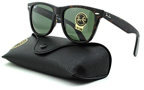 Ray-Ban RB2140 Wayfarer Unisex Square Sunglasses (Tortoise Frame/Crystal Green Lens 902, - Rb2140 902